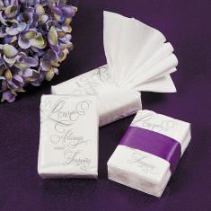 10 x Dragoste Nunta Pachete Tissue facial - Marturii nunta