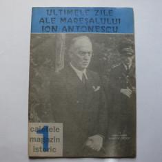 Ultimele zile ale maresalului Ion Antonescu - Carte Istorie