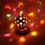 Glob rotativ cu LED, lumini disco, diametrul 9,2 cm