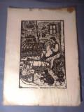 Nicolae Brana – Gravura - Romania 1942 (7) RARITATE  EXTREMA !, Istorice, Grisaille, Realism