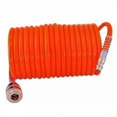 Furtun spiralat pentru compresor aer cu mufe, 5M, 10M, 15M, Pansam - Compresor Service