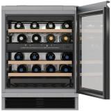 Racitor de vinuri incorporabil KWT 6321, 34 sticle, 2 zone de temperatura, Clasa B, Miele