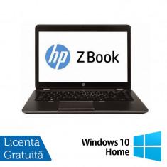 Laptop Refurbished Hp Zbook 14, Intel Core i7-4600U 2.10Ghz, 16GB DDR3, 256GB SSD, 14 inch, LED display + Windows 10 Home - Server de stocare
