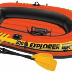 Barca gonflabila Intex Explorer Pro 200 cu set vasle si pompa
