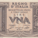 Italia  1 Lira 1939  P.26   UNC
