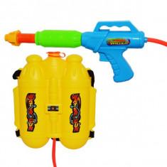 Pistol cu apa, rezervor tip rucsac, capacitate 4 litri, furtun 80 cm