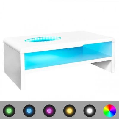 Masu?a de cafea cu LED-uri lucioasa, alb, 105 x 55 x 42 cm foto