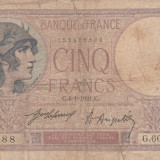 Franta  5 Francs  4.01.1921  P.36  VF