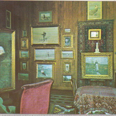 bnk cp Campina - Interior din Muzeul N Grigorescu - necirculata