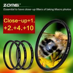 Set lentile macro Zomei (close up) 62 mm, 4 buc (+1 +2 +4 +10) + bonus., 60-70 mm