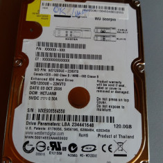Hard laptop IDE de 120 GB - WESTERN DIGITAL, 100-199 GB, Western Digital