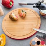 Planșetă de Bucătărie Rotundă din Bambus TakeTokioRoșu