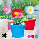 Floare Decorativă Solară cu MişcareRoz