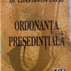 ORDONANTA PRESEDENTIALA de CONSTANTIN CRISU , 1997
