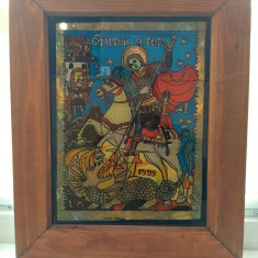 Icoana Sfântul Gheorghe ( AUTOR: IOANA POPESCU) - Icoana pe sticla