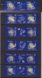 ROMANIA  2011  LP 1919 LP 1919 d  ZODIAC  II  SERIE + SERIE CU VINIETE MNH, Nestampilat