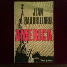 Jean Baudrillard America - Carte Filosofie