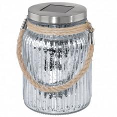 Lampa solara vintage 1, 2V cu abajur vas sticla