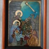 ICOANA pe sticla -Inchinarea Magilor