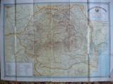 O.N.T CARPATI - REPUBLICA POPULARA ROMANA - HARTA TURISTICA - 1958