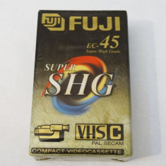 Caseta video VHS C Fuji EC-45 Super SHG - sigilata, Altul, Sony