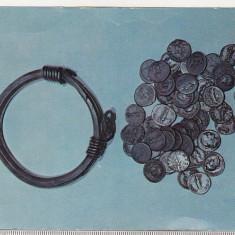 Bnk cp Bratara dacica si monede romane - vedere - necirculata