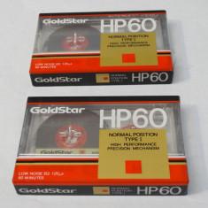 Lot 2 casete audio Goldstar HP60 60 minute - sigilate, Altul, Sony