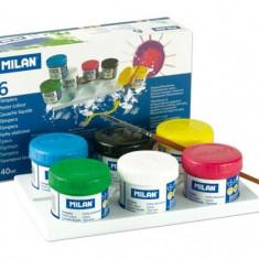 Tempera in 6 culori, 40 ml/culoare cu uscare rapida