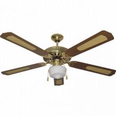 Ventilator de Tavan cu Lumină Paeamer VCP52MA 60W Lemn