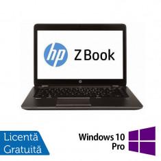 Laptop Refurbished Hp Zbook 14, Intel Core i7-4600U 2.10Ghz, 16GB DDR3, 256GB SSD, 14 inch, LED display + Windows 10 Pro - Server de stocare