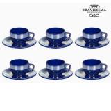 Set pentru Ceai Faianță Albastru (12 pcs) - Kitchen's Deco Colectare by Bravissima Kitchen
