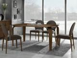 Masa din MDF, lemn masiv si furnir Mezzo nuc, L160xl100xh75 cm