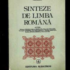 Theodor Hristea - Sinteze de limba romana, editia buna, 1984