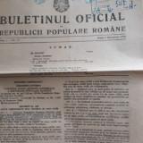Buletinul oficial 1949 si  Monitorul oficial 1946