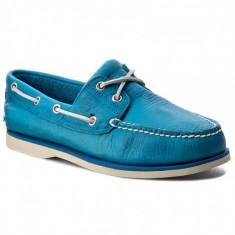 REDUCERE! Mocasini barbat TIMBERLAND originali noi piele turquoise superbi 43, Turcoaz