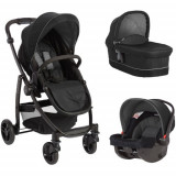 Carucior 3 in 1 Evo II Black Grey, Graco