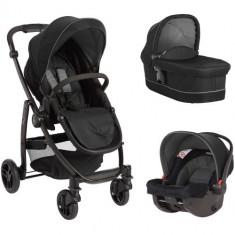 Carucior 3 in 1 Evo II Black Grey - Carucior copii 2 in 1 Graco