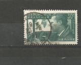 FRANTA 1937 - PIONIER AVIATIE MERMOZ, timbru stampilat, R27