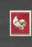 GERMANIA 1964 - SPORT JUDO OLIMPIALA TOKYO, timbru nestampilat, R14
