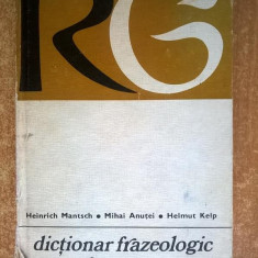 H. Mantsch, M. Anutei, Helmut Kelp – Dictionar frazeologic roman-german
