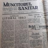 Trei ziare de colectie,Muncitorul sanitar din anii 1957, 1962, 1963