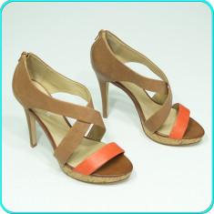 DE FIRMA → Sandale dama, frumoase, usoare, din piele, ALDO → femei | nr. 41, Culoare: Coffee, Piele naturala