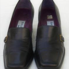 Pantofi din piele naturala Balenciaga Paris - Pantof dama, Culoare: Negru, Marime: 37, Cu talpa joasa