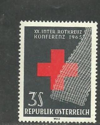 Austria 1965 - CRUCEA ROSIE, timbru nestampilat, AD39 foto