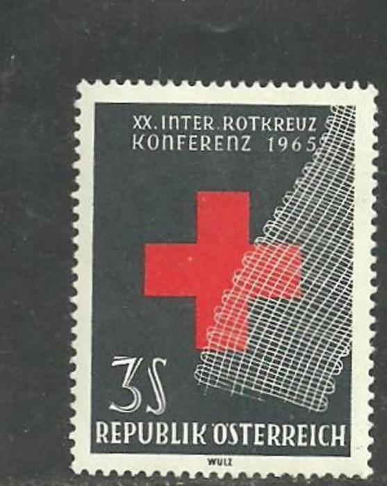 Austria 1965 - CRUCEA ROSIE, timbru nestampilat, AD39