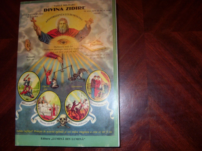 VASILE  MILITARU  -  DIVINA  ZIDIRE. SINTEZA BIBLICA IN VERSURI - ilustrata,noua foto mare