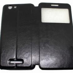 Husa Protectie Tip Carte Flip Cover Allview V2 Viper X, Alt model telefon Allview, Negru