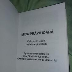 MICA PRAVILIOARA,Carte ortodoxa vintage,Cele sapte laude,rugaciuni si acatiste