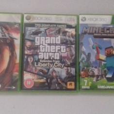 LOT 3 Jocuri - Minecraft - GTA IV - Tomb Raider - XBOX 360 [Second hand] - Jocuri Xbox 360, Actiune, 18+, Single player