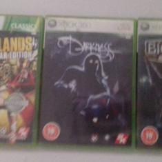 LOT 3 Jocuri - Borderlands - Darkness - Bioshock - XBOX 360 [Second hand] - Jocuri Xbox 360, Actiune, 18+, Single player